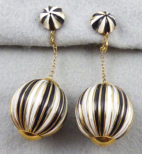Newly Added Vendome Enamel Drop Earrings