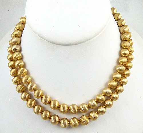Newly Added Monet Gold Beads Necklace