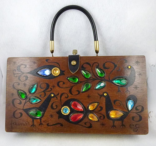 Newly Added Enid Collins Fauna Wooden Box Bag