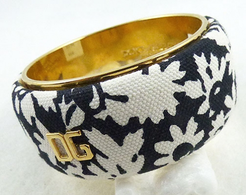 Newly Added Dolce & Gabbana Floral Fabric Bangle Bracelet
