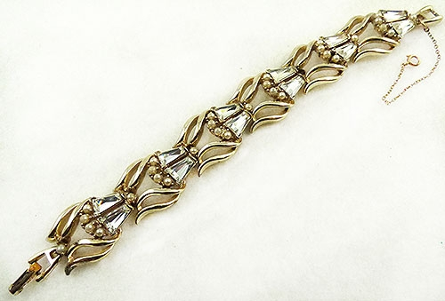 Newly Added Tapered Baguette Rhinestone Bracelet