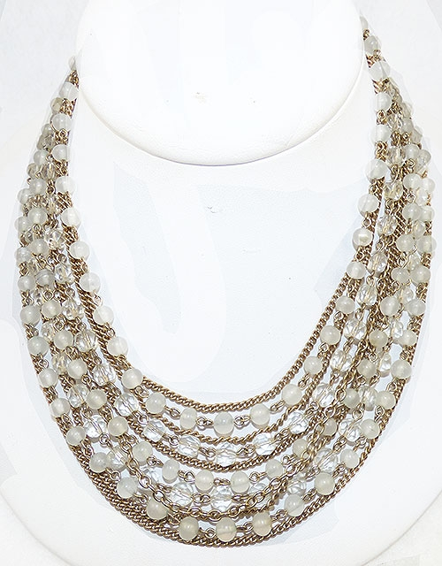 Newly Added Kramer Glass and Crystal Bead Necklace