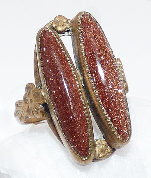 Newly Added Goldstone Brass Ladies Ring