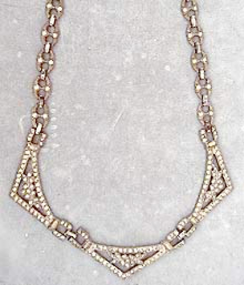 Newly Added Trifari Art Deco Rhinestone Necklace