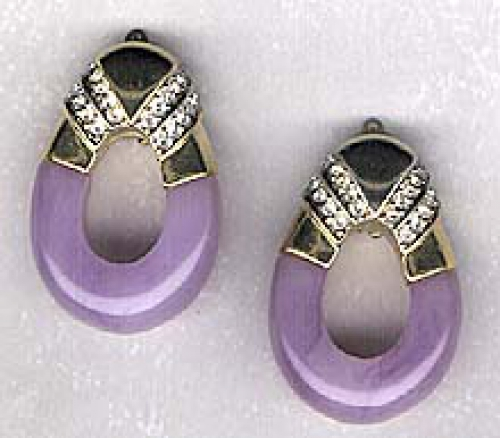 Newly Added K.J.L Purple lucite earrings
