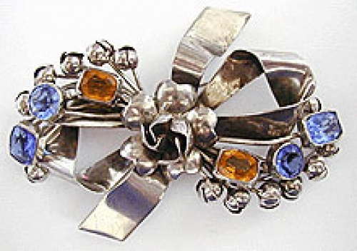 Newly Added Hobe Sterling Bow Brooch