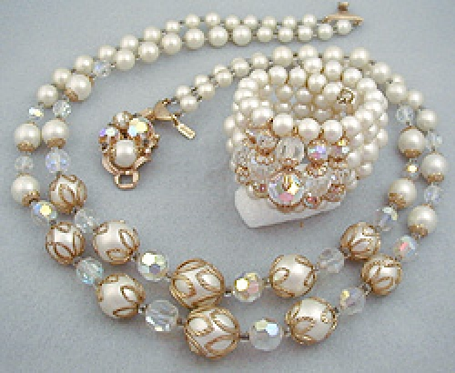 Newly Added Adrian Faux Pearl Parure