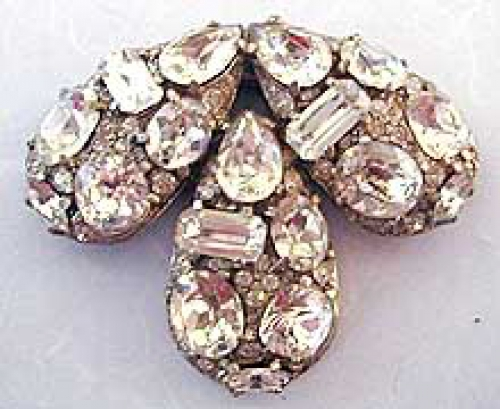 Newly Added Eisenberg Rhinestone Bow Brooch