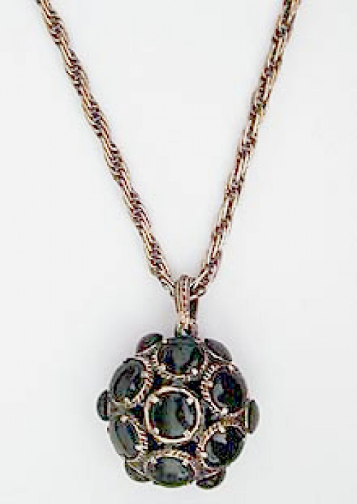 Newly Added Trifari Black Glass Necklace