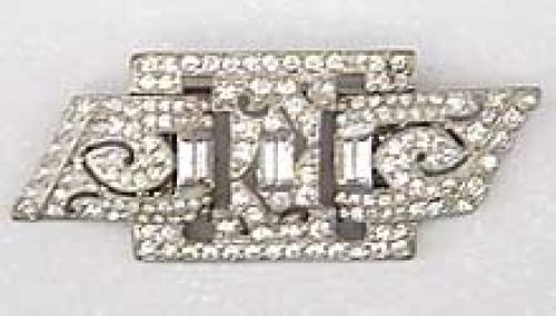 Newly Added Art Deco Rhinestone Double Clips/Brooch