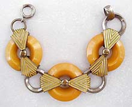 Newly Added Jakob Bengel Yellow Galalith Bracelet
