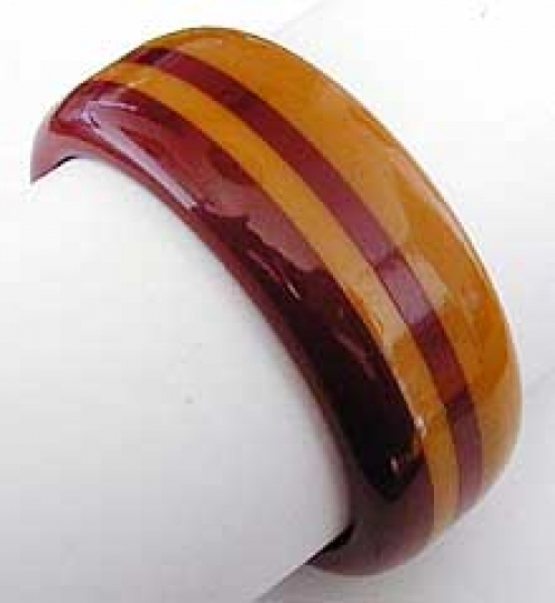 Newly Added Butterscotch Burgundy Laminated Bakelite Bangle