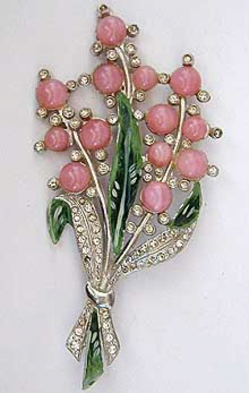 Newly Added Chanel Novelty Pink Moonstone Floral Brooch