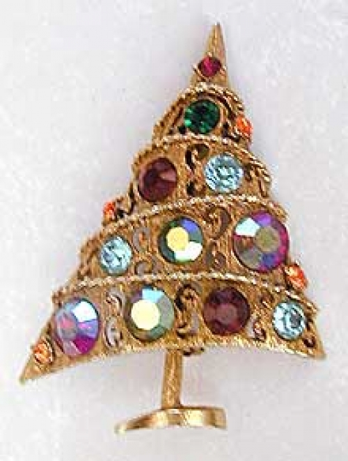 Newly Added Weiss Christmas Tree Brooch