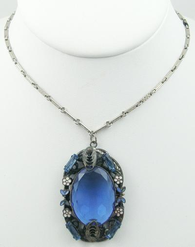blue product murano glass necklace jewelry lake linda v
