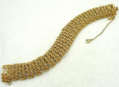 Monet Golden Flowers Bracelet